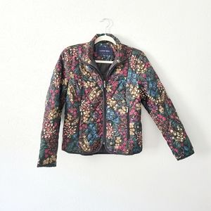 Lands End Floral Puffer Jacket | Primaloft